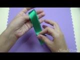 Как сделать РОЗЫ из Атласных Лент. Мастер-класс - ribbon rose DIY
